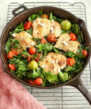 Mediterranean Skillet Greens Chicken.png
